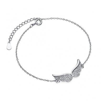 Stříbrný náramek andělská křídla