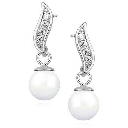 Stříbrné náušnice perličky