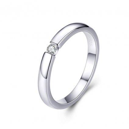 jednoduchý zásnubní prsten