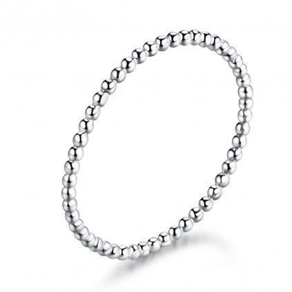 jednoduchý střírbný prsten
