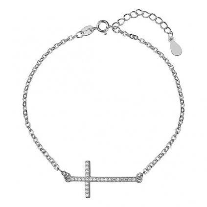 stříbrný náramek kříž