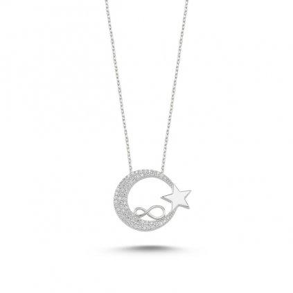 náhrdelník měsíc a hvězda