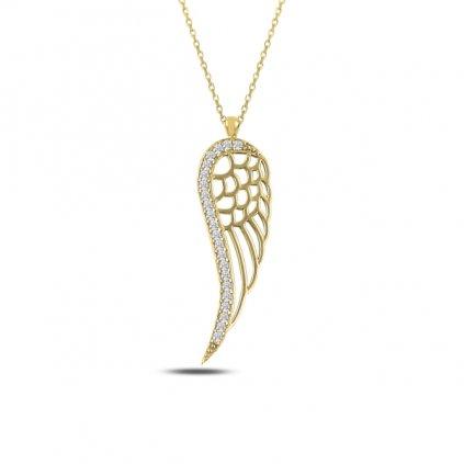pozlacené andělské křídlo