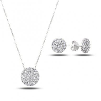 jemná sada stříbrných šperků