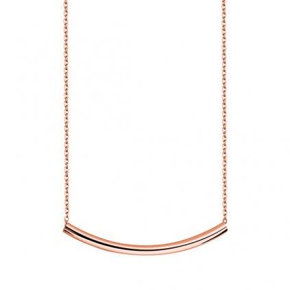náhrdelník prohlá rosegold tyčinka