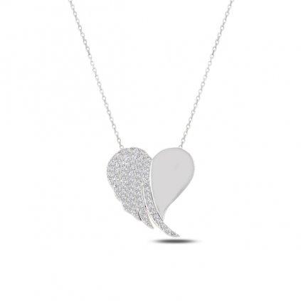přívěsek andělské srdce