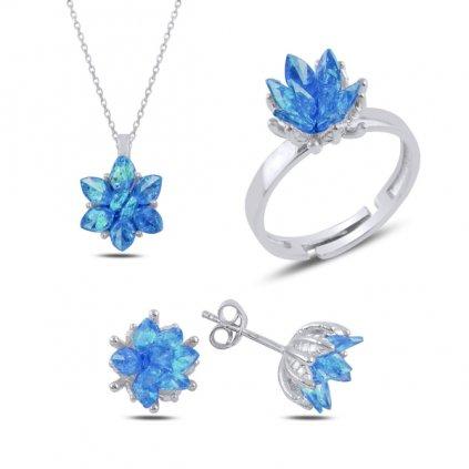 sada šperků lotos akva