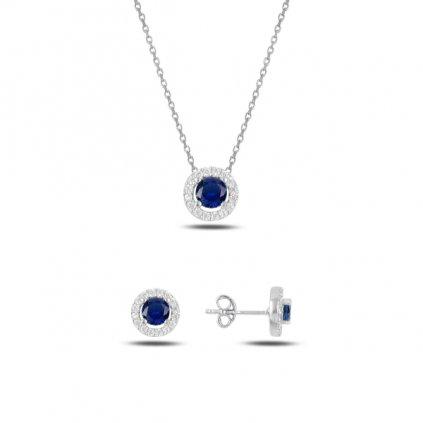 set šperků modré kroužky