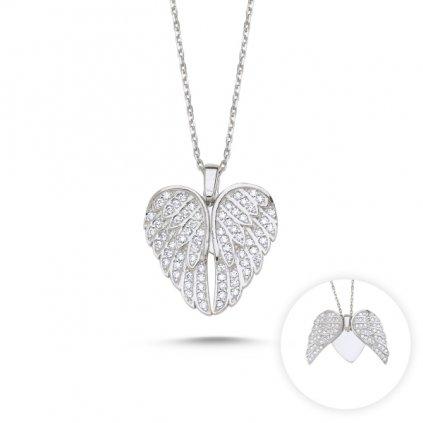 náhrdelník pohyblivá andělská křídla