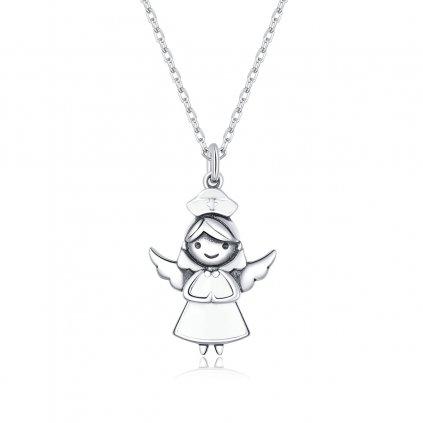stříbrný andílek zdravotní sestra