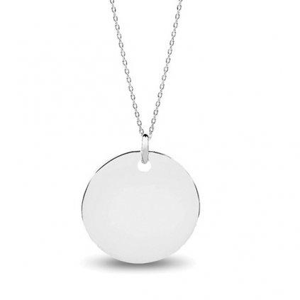 stříbrný medailon