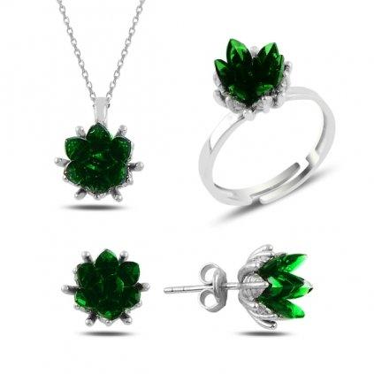 sada šperků květ lotosu