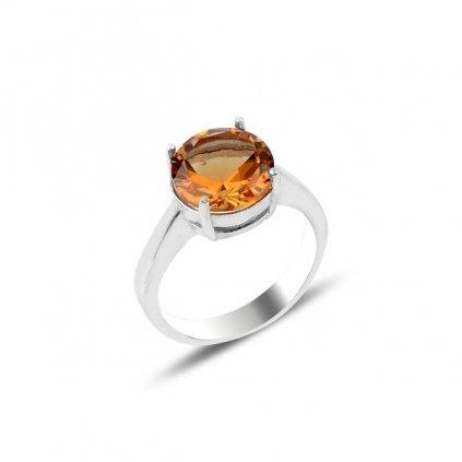 Stříbrný broušený sultanitový prsten