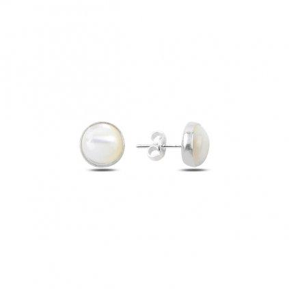 náušnice pecky perleť