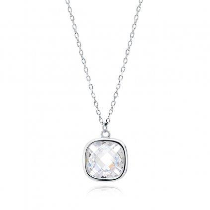 hranatý stříbrný náhrdelník