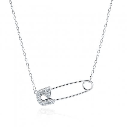 Luxusní stříbrný náhrdelník špendlík