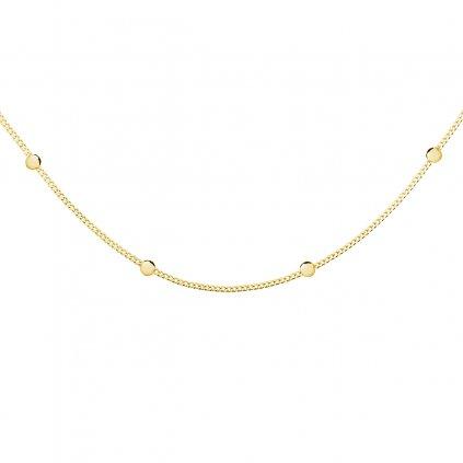 Pozlacený náhrdelník choker kuličky