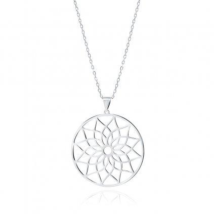 Stříbrný náhrdelník mandala