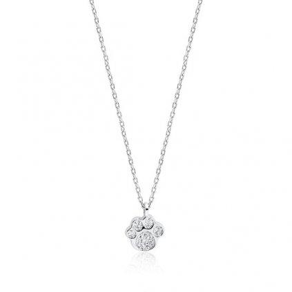 stříbrný náhrdelník s tlapkou