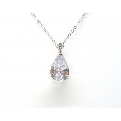 luxusní náhrdelník kapka zirkonu