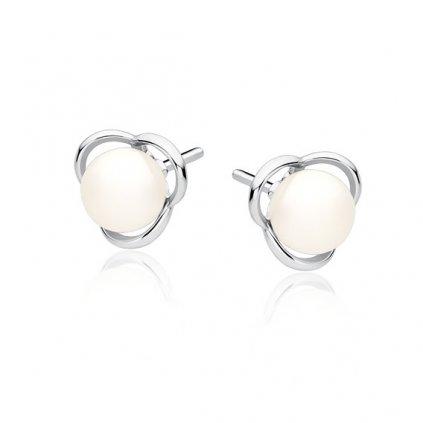náušnice pecky perly