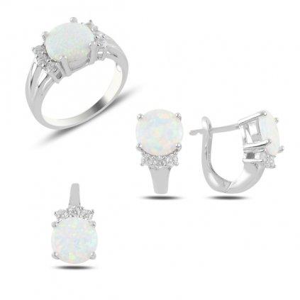 elegantní opálová sada šperků