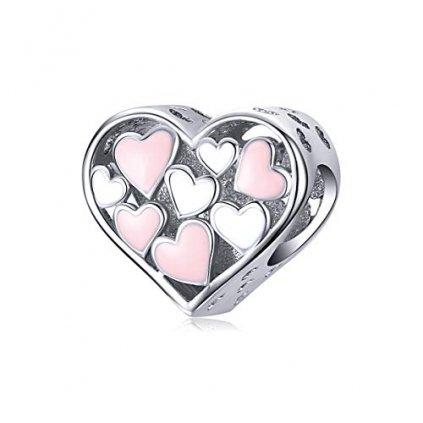 přívěsek na náramek srdce