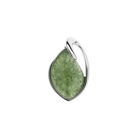 Elegantní stříbrný přívěsek se zeleným aventurínem