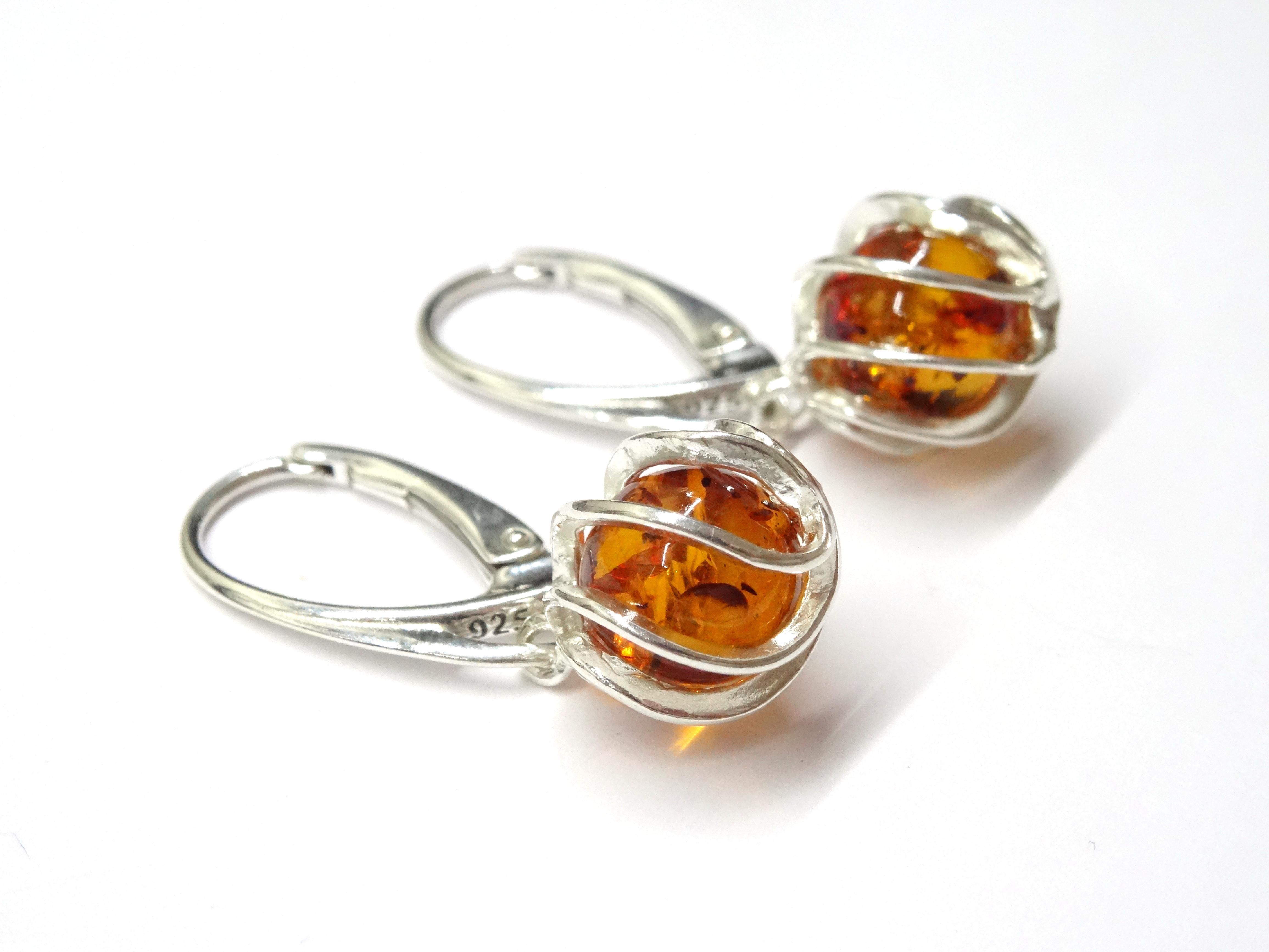 Klenoty Amber Stříbrné náušnice - kuličky