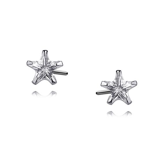 Stříbrné náušnice zirkonové hvězdy 5 mm