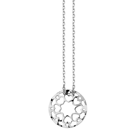Stříbrný náhrdelník medailon srdce