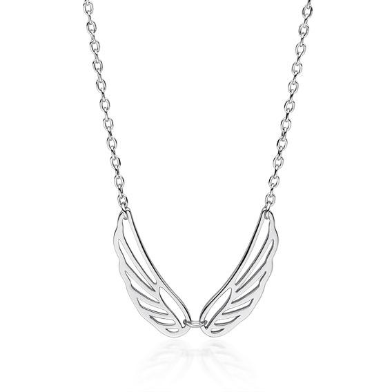 Stříbrný náhrdelník s křídly