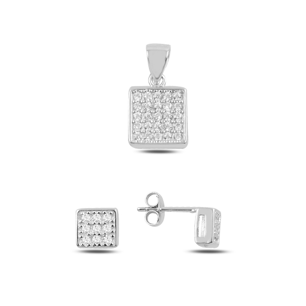 Luxusní stříbrná sada - čtverce