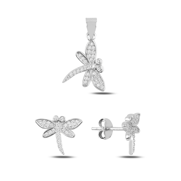 Luxusní stříbrná sada - vážky