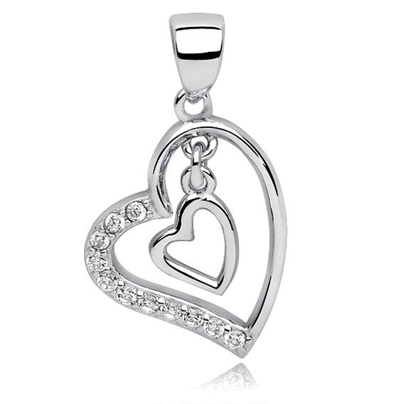 Přívěsek srdce v srdci