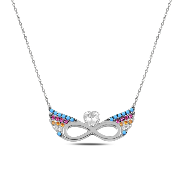 Stříbrný náhrdelník - andělské nekonečno