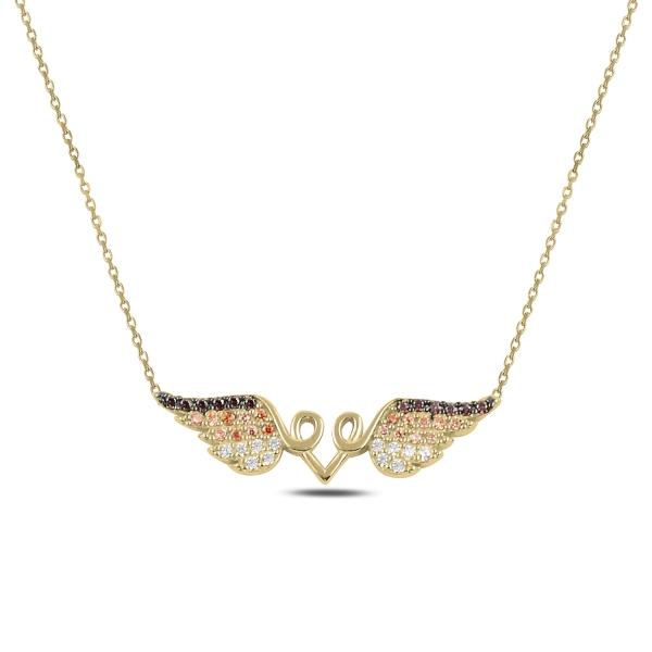 Pozlacený náhrdelník s andělskými křídly