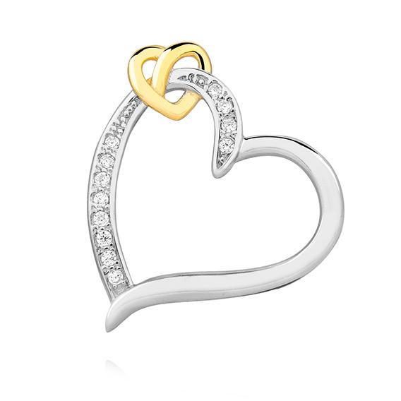 Luxusní přívěsek - propletená srdce