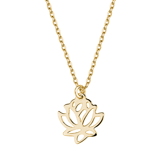 Pozlacený náhrdelník s květem lotosu