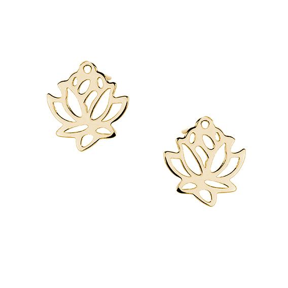 Pozlacené náušnice - květ lotosu