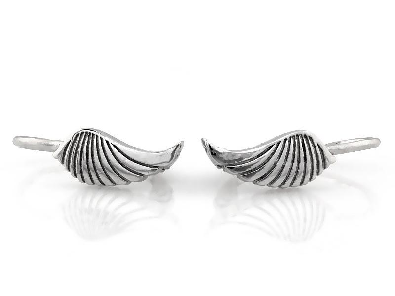 Stříbrné náušnice - křídla