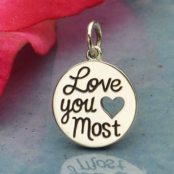 Stříbrný přívěsek - Love you most