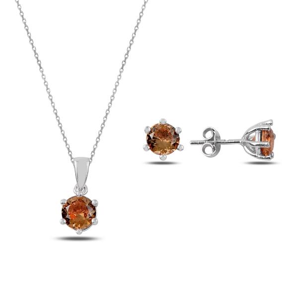 Stříbrná sada šperků sultanit