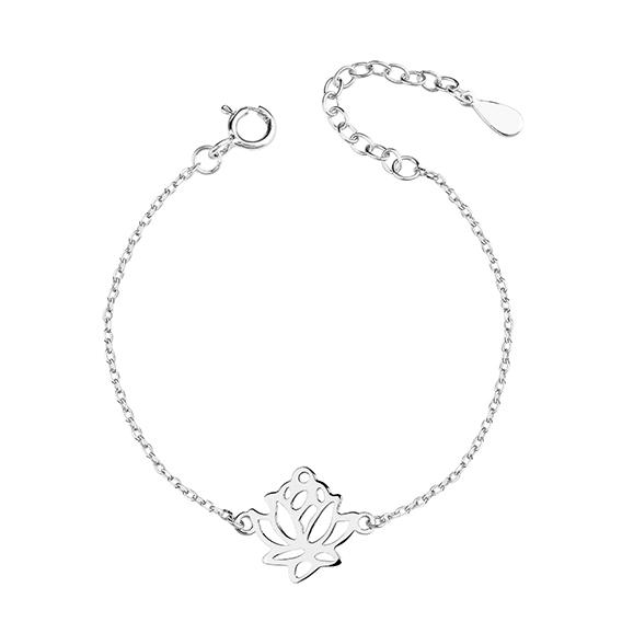 Stříbrný náramek s květem lotosu