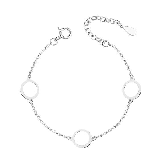 Stříbrný náramek s kroužky