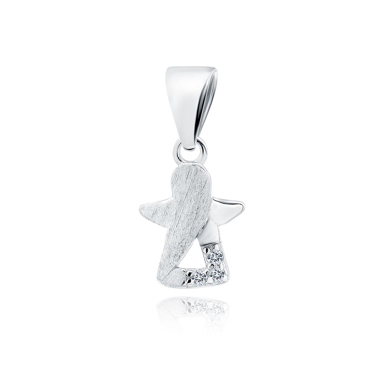 Klenoty Amber Stříbrný přívěsek malý andílek