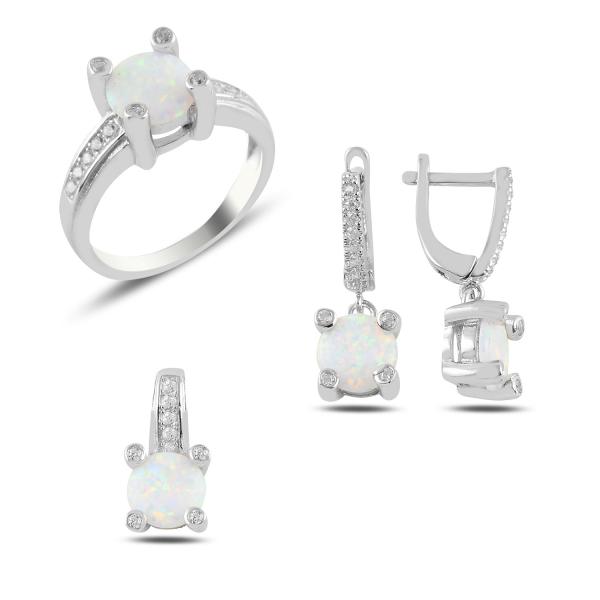 Luxusní sada šperků s opálem a zirkony