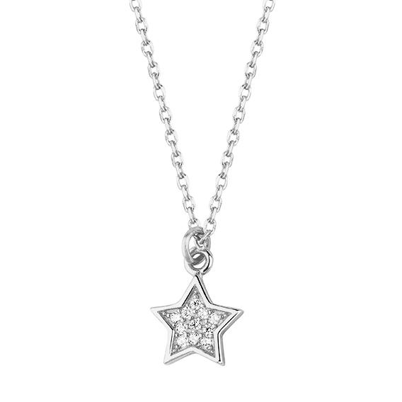 Stříbrný náhrdelník s hvězdou