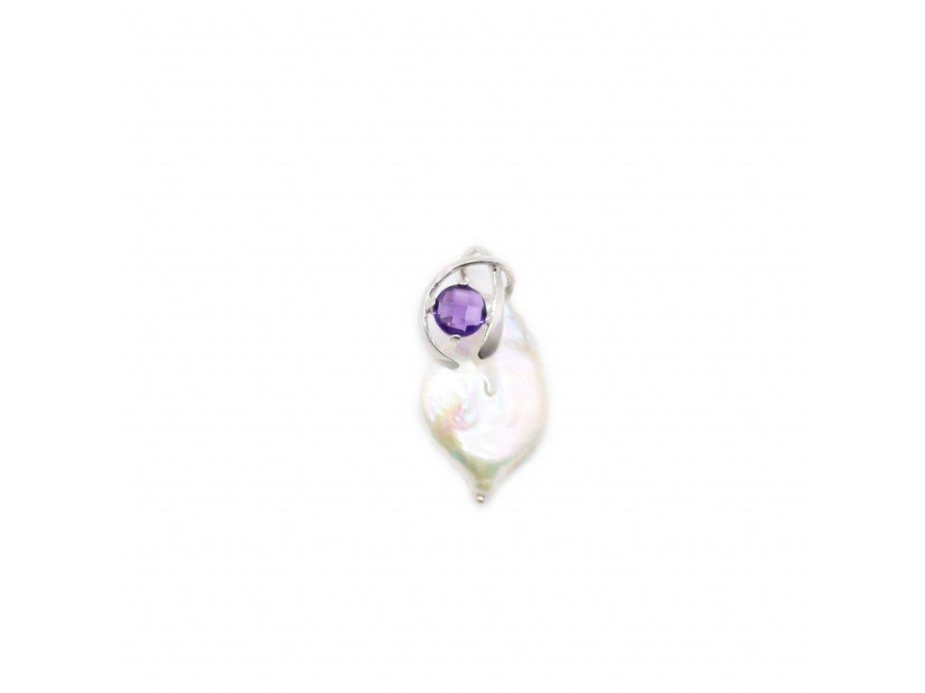 Přívěsek s přírodní barokní perlou
