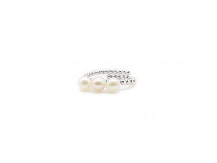 Prsten s přirodními perlami